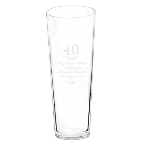 Personalised 40 years Conical Vase